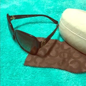 Coach women's tortoise brown sunglasses